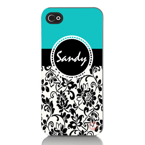 Personalized iPhone 4, 4s, 5 Cell Phone Case With Your Name u0026 Damask ...